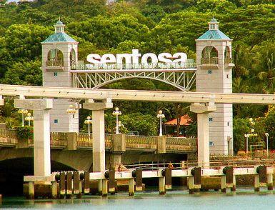 Trên đảo Sentosa