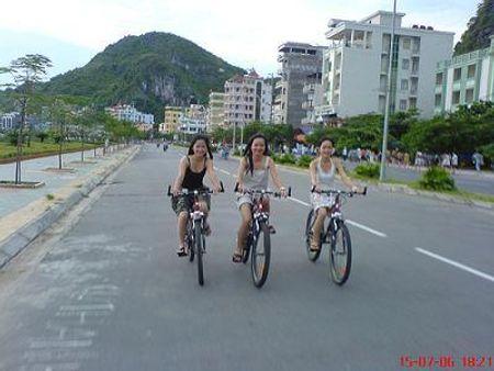 Xe đạp dạo bờ biển