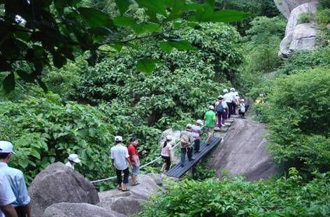 Đường leo lên núi Minh Đạm