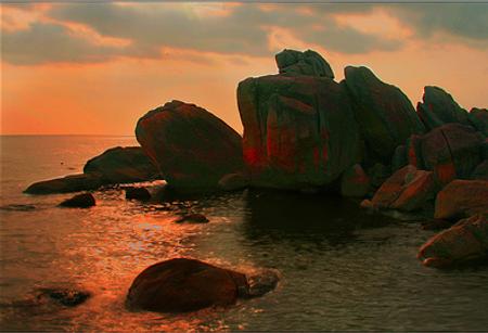 Hòn đá Bạc hoàng hôn
