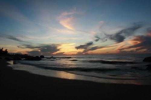 Bình minh bãi biển