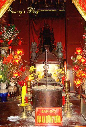 Bàn thờ An Dương Vương.