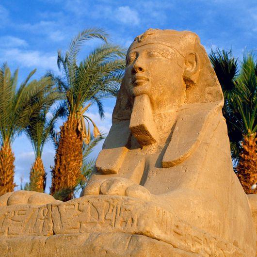 Tượng và những bức phù điêu của Pharaong