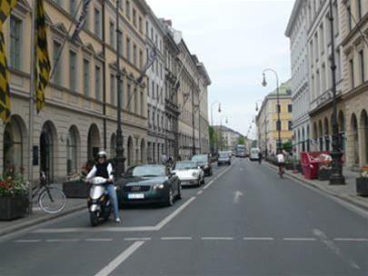 Một đường phố của Munich