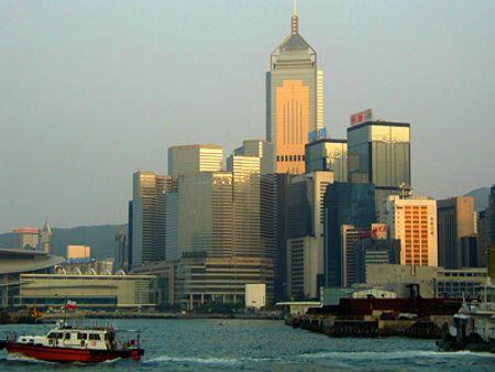 Central Plaza ở Hong Kong, cao 374m, xây năm 1992.