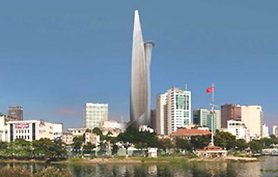 Bitexcoland Financial Tower tại TP HCM khi hoàn thiện sẽ trở thành tòa nhà cao nhất Việt Nam trong năm 2009 (290m, với 68 tầng).
