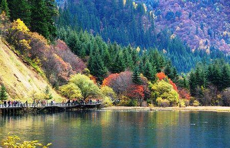 Thời điểm ghé thăm Cửu Trại Câu  đẹp nhất trong năm  là vào mùa thu,