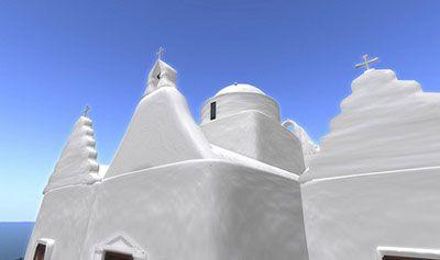 Panagia Paraportiani nằm ở thị trấn Chora, đảo Mykonos ở Hy Lạp.