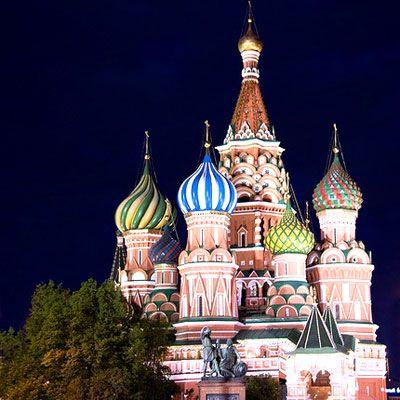 Thánh đường Intercession of the Virgin ở quảng trường đỏ thuộc Moscow.