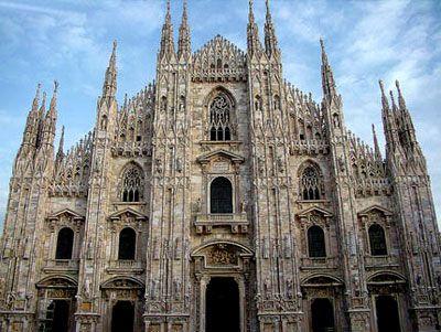 Nhà thờ Milan ở Lombardy, phía bắc Italy.