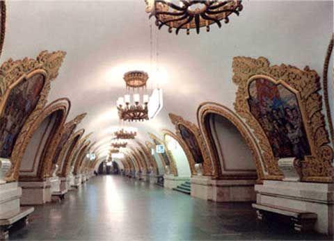 Ít nhất 44 trạm ga tàu điện ngầm ở Moscow được đánh giá là công trình kiến trúc tuyệt mỹ