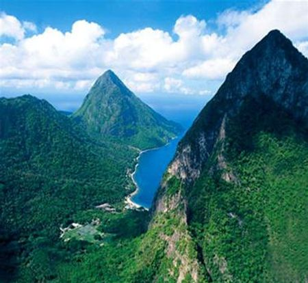 Pitons ở St. Lucia